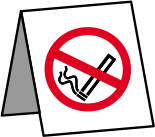 No Smoking Desk - rigid 1mm rigid plastic - 50 x 50mm sign