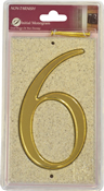 Stone Masonry Effect Number Plaque 6