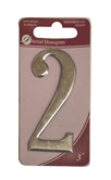 3 inch Silver Effect Numeral 2