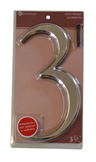 5 1 / 2 inch Silver Effect Numeral 3