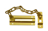 Polished Brass Door Chain sign