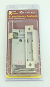 63 mm 2 1/2 inch Nickel Plated 3 Lever Mortice Sashlock sign