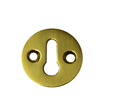 1 1 / 4 inch Polished Brass Victorian Escutcheon sign