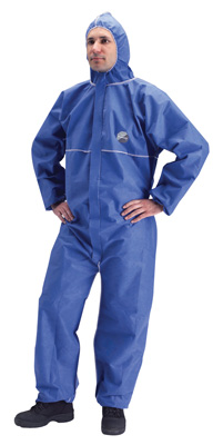 Comfortable material will not restrict movement. Protects against airborne solid particulate chemicals and limited protection against liquid mist (Type 5 & 6). Small, Meduim, Large, XLarge, XXlarge overalls.