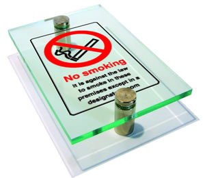 6mm clear cast plastic sign