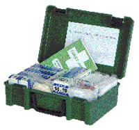 1-10 man first aid kit refill sign.