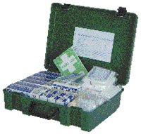 21-50 man first aid kit refill sign.