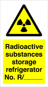 Radioactive substances storage refridgerator no r./-------- sign.