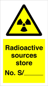 Radioactive sources store no s./-------- sign.