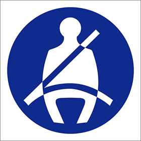 Image only for seat belt wearing sign.