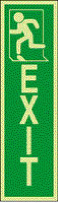 Exit running left - 5 pack sign.
