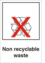 Non recyclable waste sign.