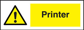 Fax machine : pack of 10 labels sign.