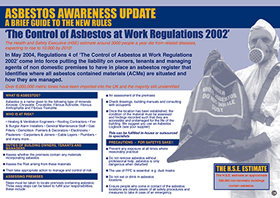 Asbestos awareness update safety poster sign.