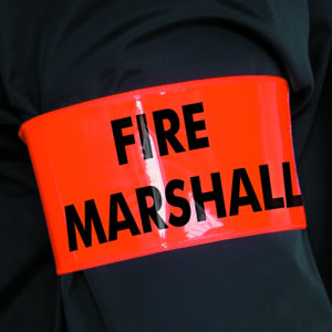 Fire marshal armband sign.