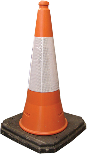 Large traffic cone 795mm sign.