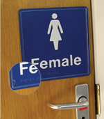 braille toilet signs