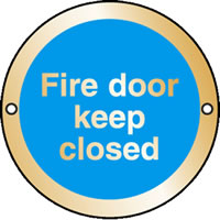 Fire door keep closed sign.