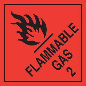 Flammable gas 2 sign.