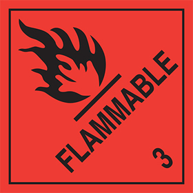 Flammable 3 sign.
