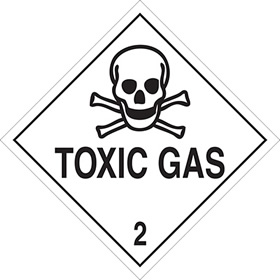 Toxic gas 2 sign.