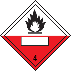 As da52 but rigid and magnetic Combustion symbol 4 sign.