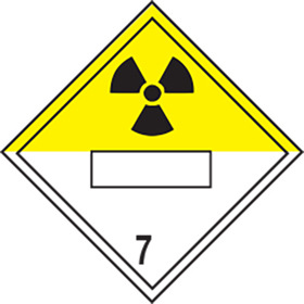 Radioactive symbol 7 sign.