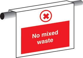 No mixed waste sign.