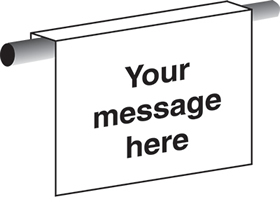 Blank with your own text sign.