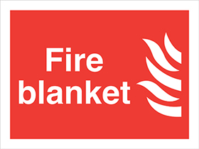Fire blanket flame symbol sign.
