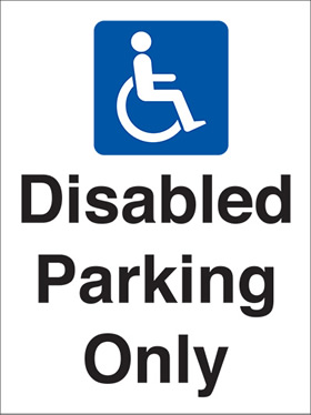 Disabled parking only signs.