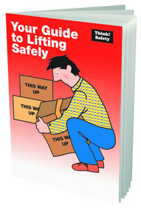 Your guide to lifting safely booklet sign.