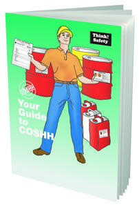 Your guide to coshh booklet sign.