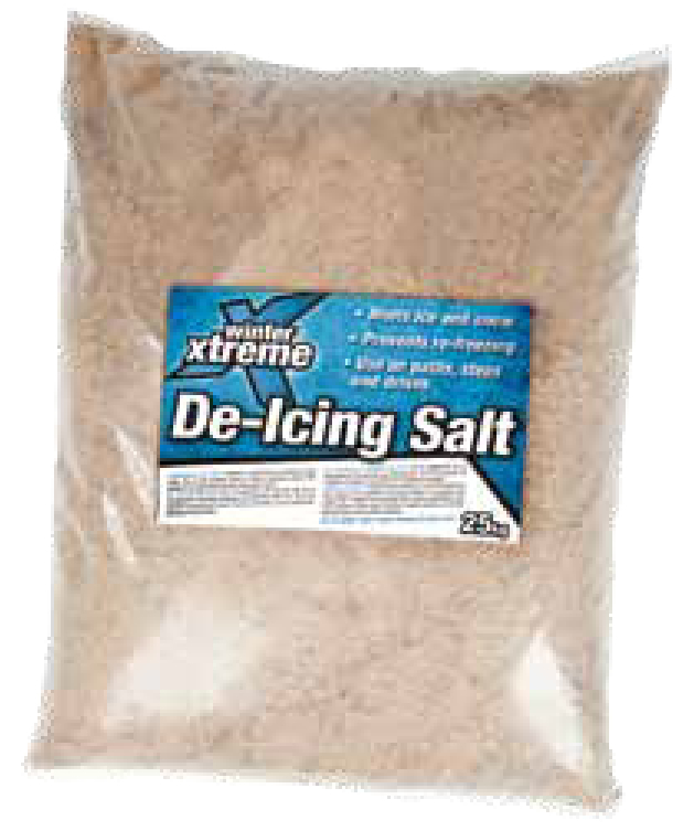 Fast acting salt and granite mix leaves a 'gritty' residue after applying de-icing grit, providing additional grip.