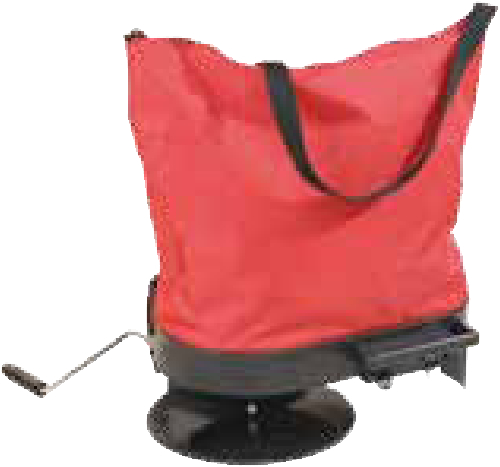 Ideal for dispensing rock grit on smaller areas. heavy duty bag hopper with top zip opening for easy filling. Comfortable and easy to use.