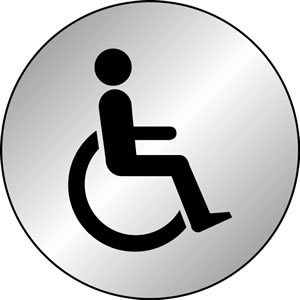 Disabled symbol sign.