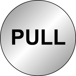 Pull sign.