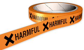 Harmful hazard tape.
