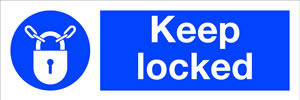 Keep locked sign.