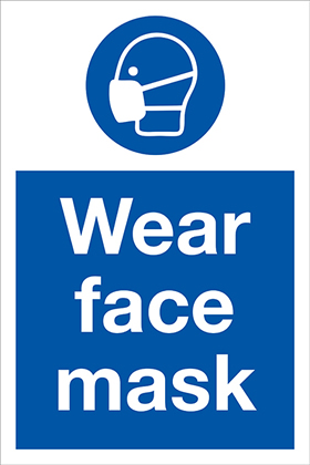 Wear face mask sign.