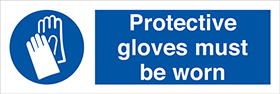 Protective gloves must be worn sign.