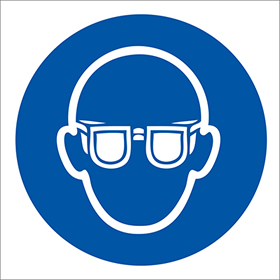 eye protection symbol sign.