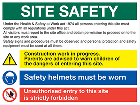 Create your own site safety board : example only shown sign.