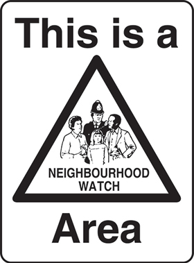 This is a neighbourhood watch area sign.