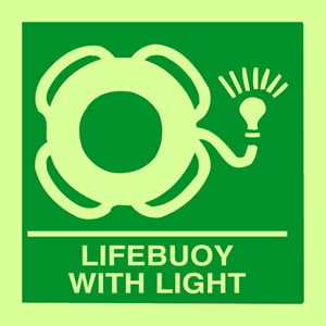 Lifebuoy with light sign.