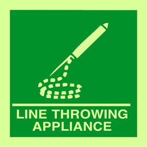 Line throwing appliance sign.