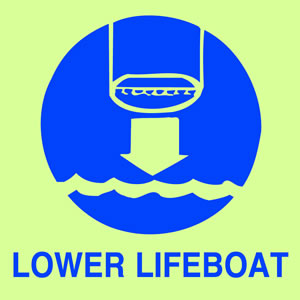 Lower lifeboat sign.