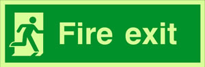 running man fire exit sign.