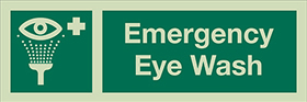 Emergency eye wash sign.