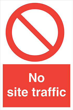 No site traffic sign.